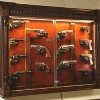 Pistol Display Case with Mounted Trigger Locks (pistoldisplay_02b)
